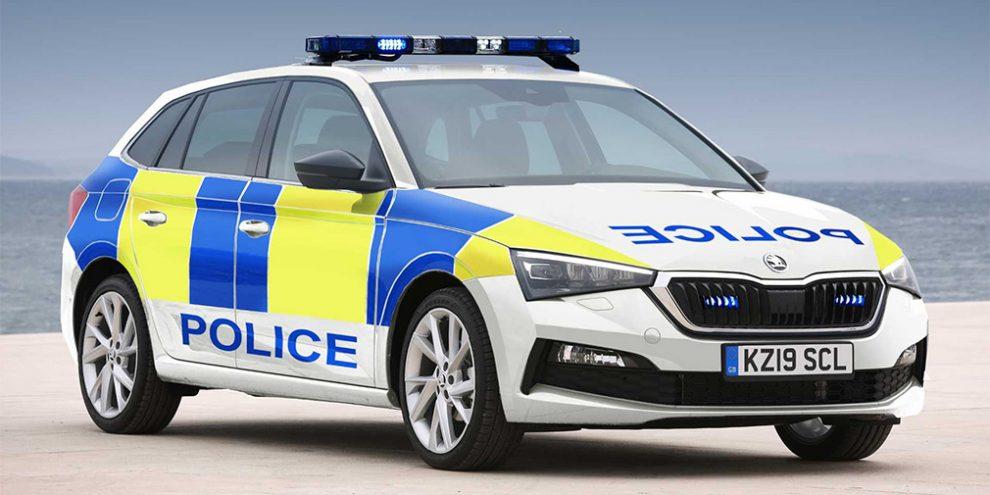 Хетчбек Skoda Scala перетворили на поліцейський автомобіль