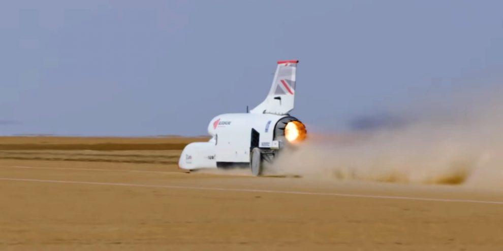 Відео: надзвуковий автомобіль розігнався до 800 км / год під час тестів