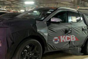 Серійна версія першого пікапа Hyundai вперше помічена на тестах