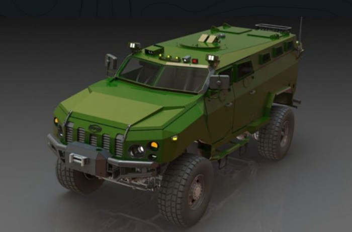 Комрат - новий бронеавтомобіль на шасі КрАЗ-5322