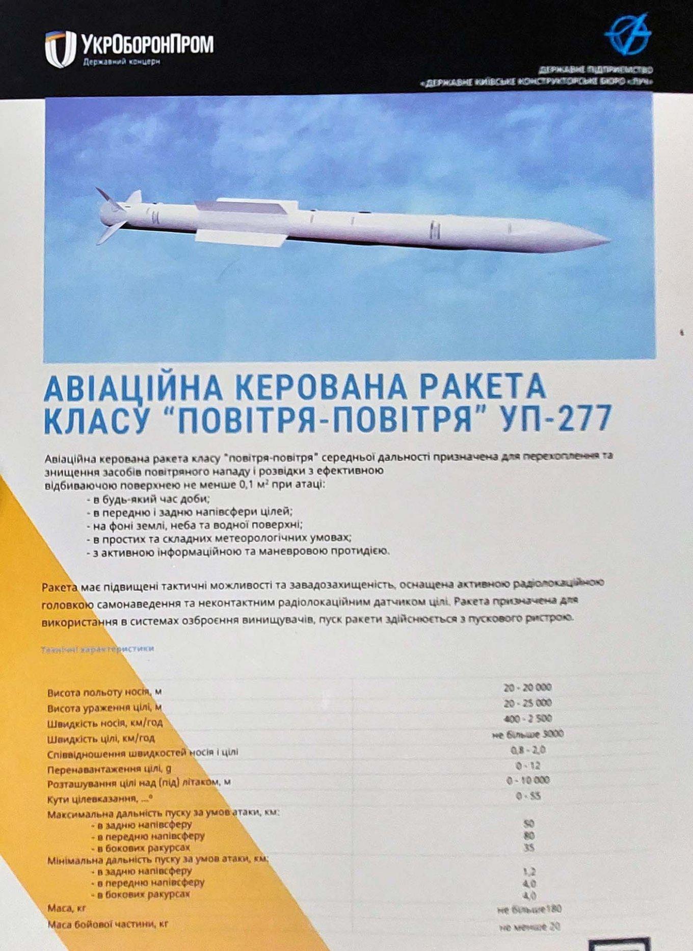 """КБ """"Луч"""" розробляє нове покоління авіаційних ракет малої та середньої дальності (фото)"""
